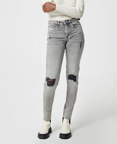 Jeans skinny destroy grigio - Pimkie