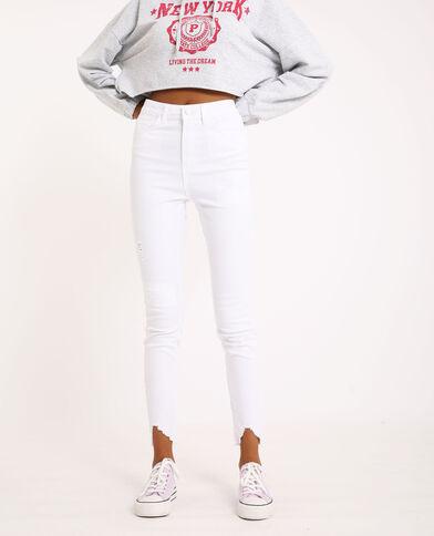 Jeans skinny high waist écru