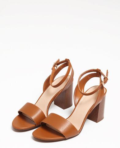Sandali con tacco largo marrone 36146b32ce1