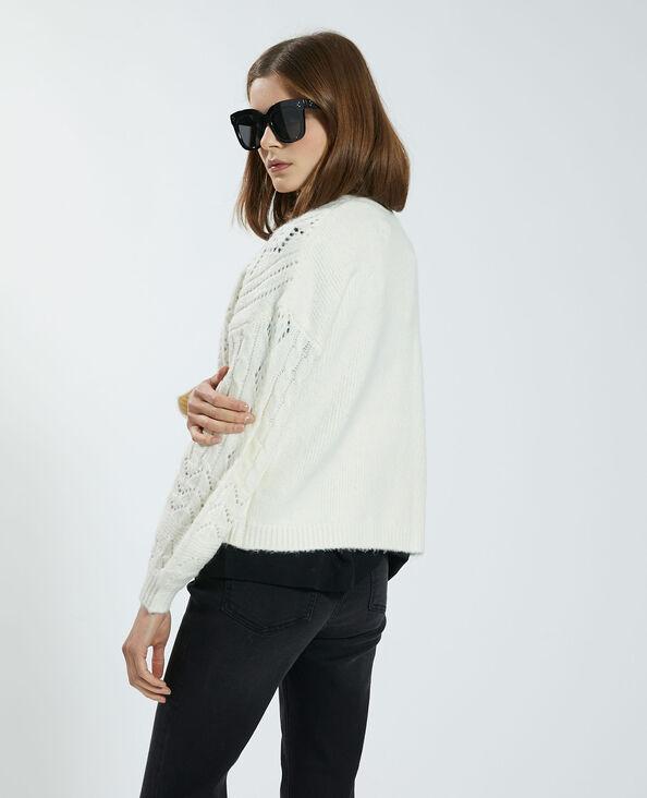 Cardigan in maglia fantasia bianco - Pimkie