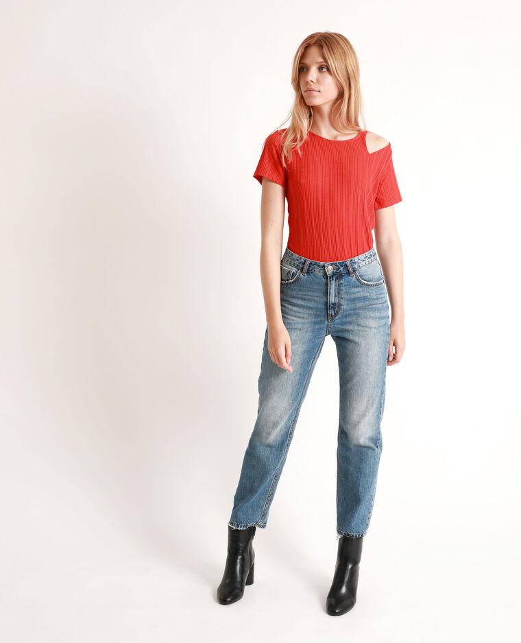 T-shirt traforata rosso