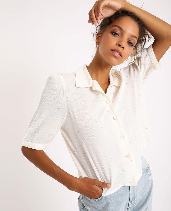 Camicia a pois bianco