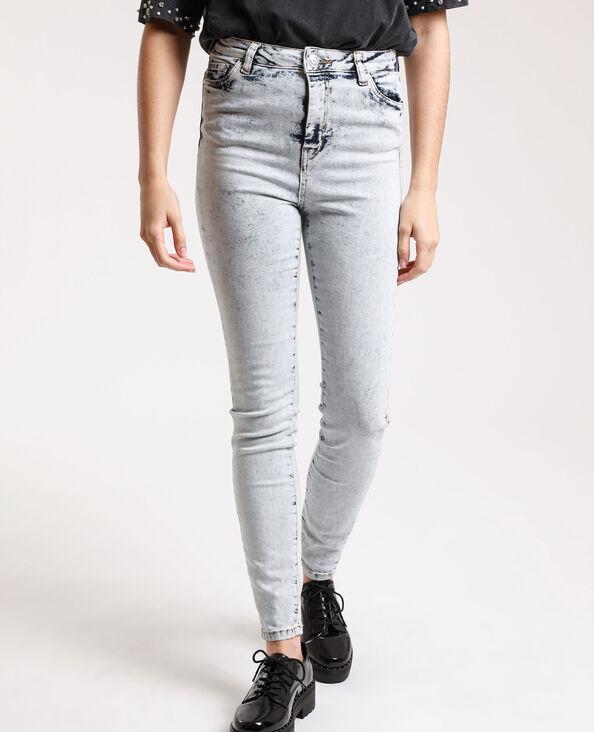 Jeans skinny high waist délavé blu chiaro