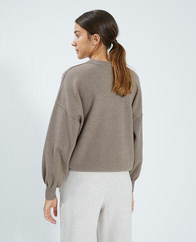Pull in maglia sottile marrone - Pimkie