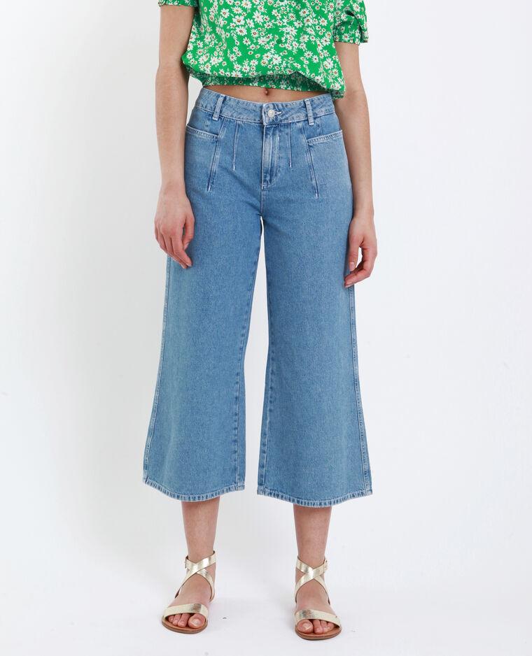 Jeans wide leg blu delavato
