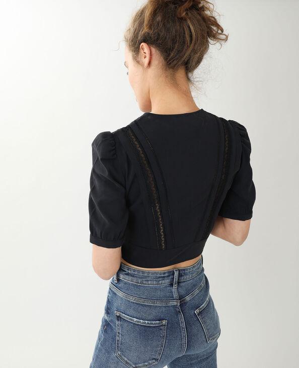 Camicia corta vintage nero - Pimkie