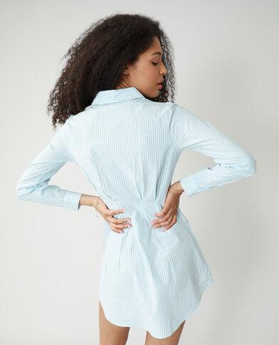 Camicia lunga attillata a righe blu - Pimkie