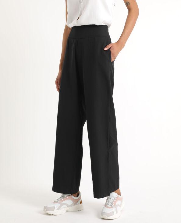 Pantalone morbido largo nero