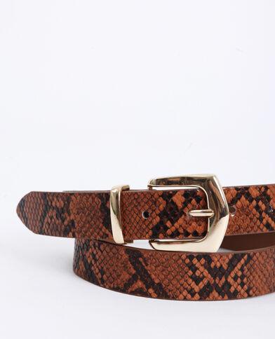 Cintura pitonata arancio