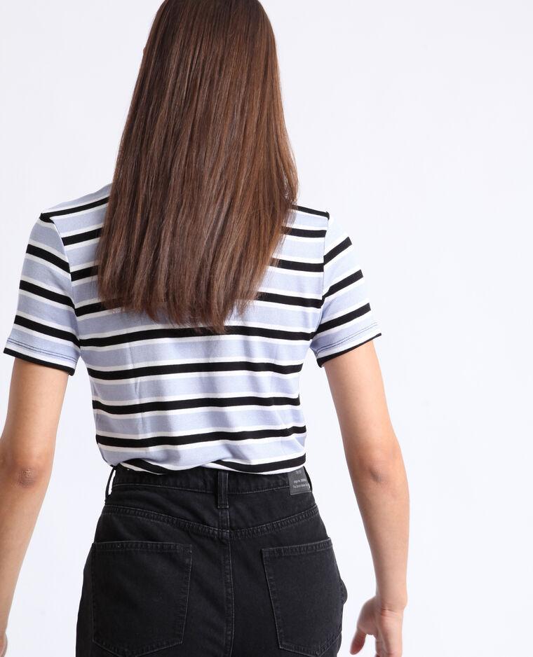 T-shirt a righe nero