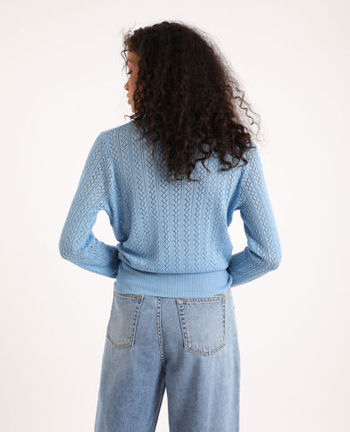 Pull traforato blu