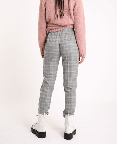 Pantalone a quadri blu