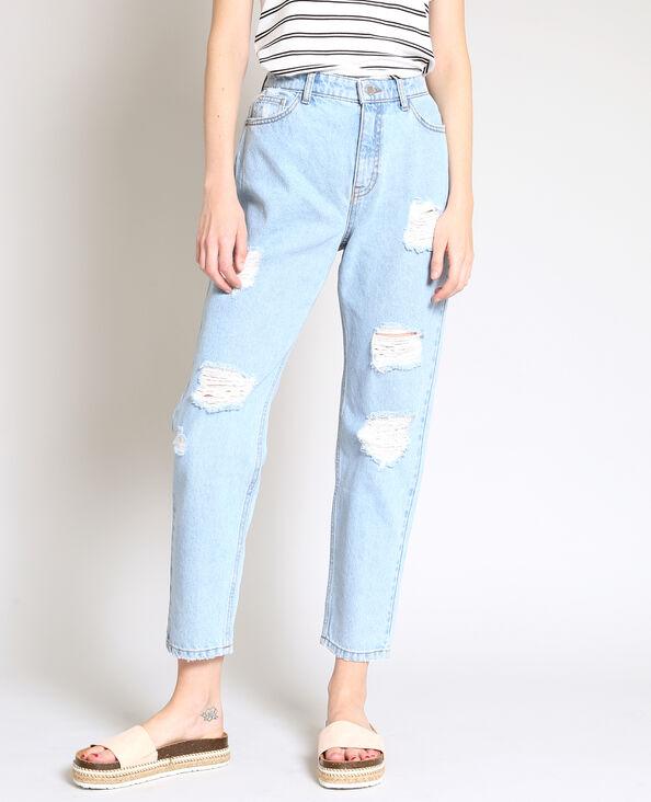 Jeans mom destroy blu
