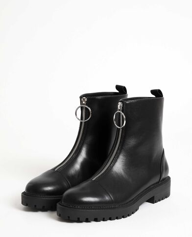 Boots bassi in similpelle nero