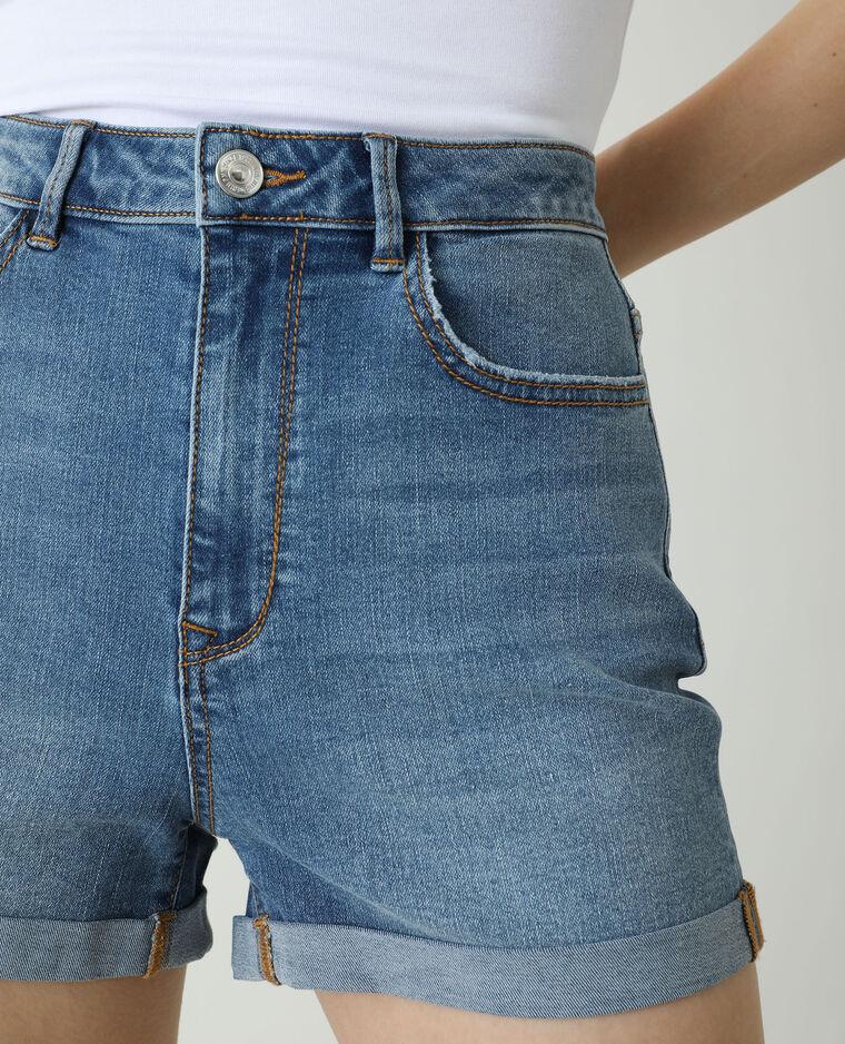 Short di jeans high waist blu denim - Pimkie