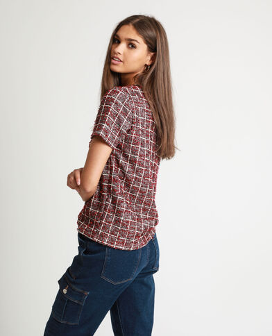 T-shirt in tweed rosso