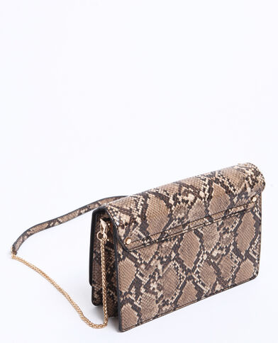 Piccola borsa in pitone marrone
