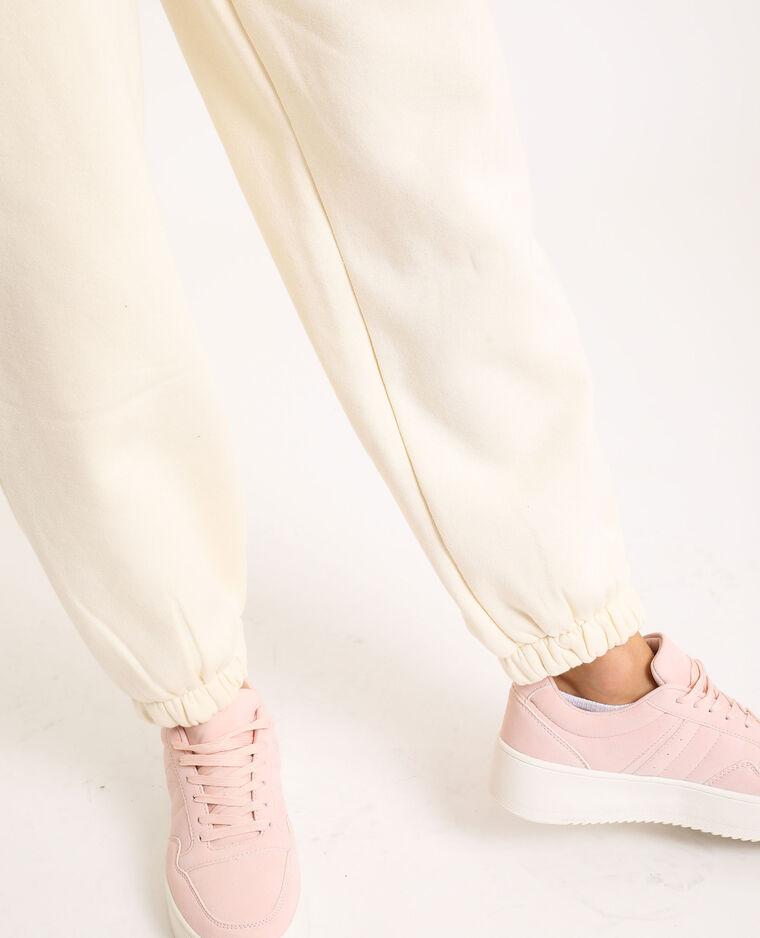 Pantalone in cotone felpato beige corda - Pimkie