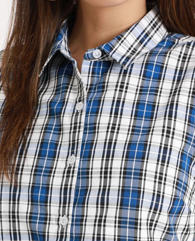 Abito camicia a quadri blu