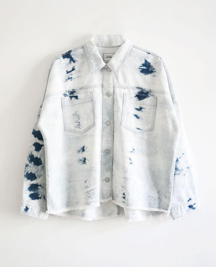 Giacca camicia tie & dye blu