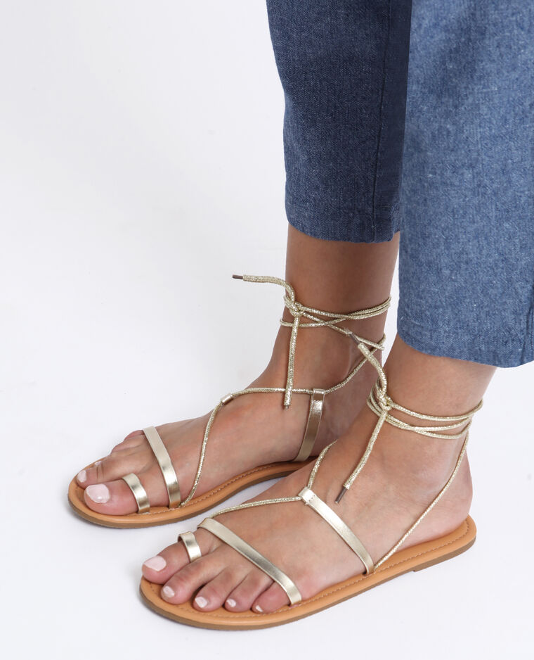 Sandali bassi dorati giallo