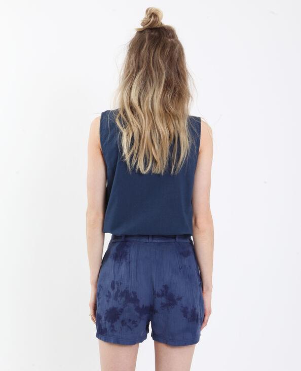 Camicia senza maniche blu scuro