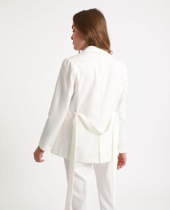 Blazer con cintura bianco