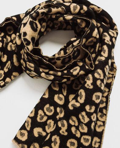 Sciarpa leopardo nero