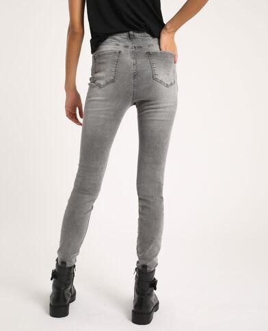 Jeans skinny high waist grigio chiné