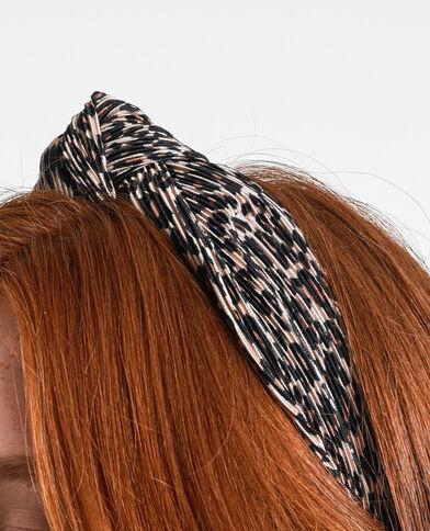 Cerchietto leopardato nero