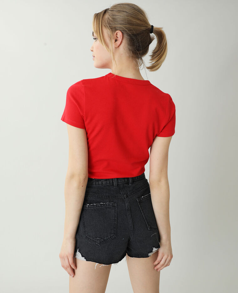 T-shirt basic rosso