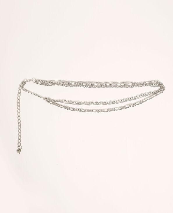 Cintura con catene grigio paillettato - Pimkie