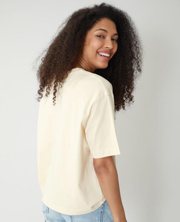 T-shirt oversize con scritta beige - Pimkie