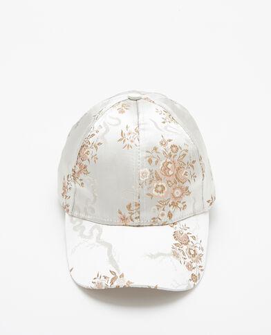 Cappellino satinato beige corda