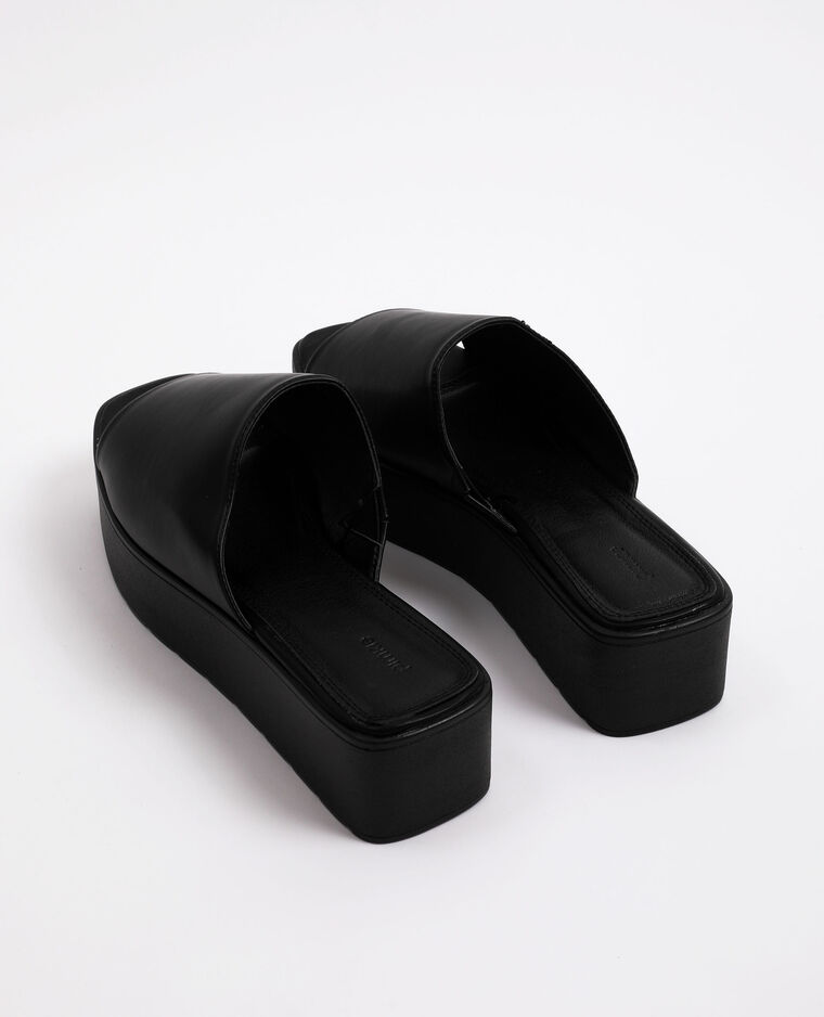 Sandali con plateau nero