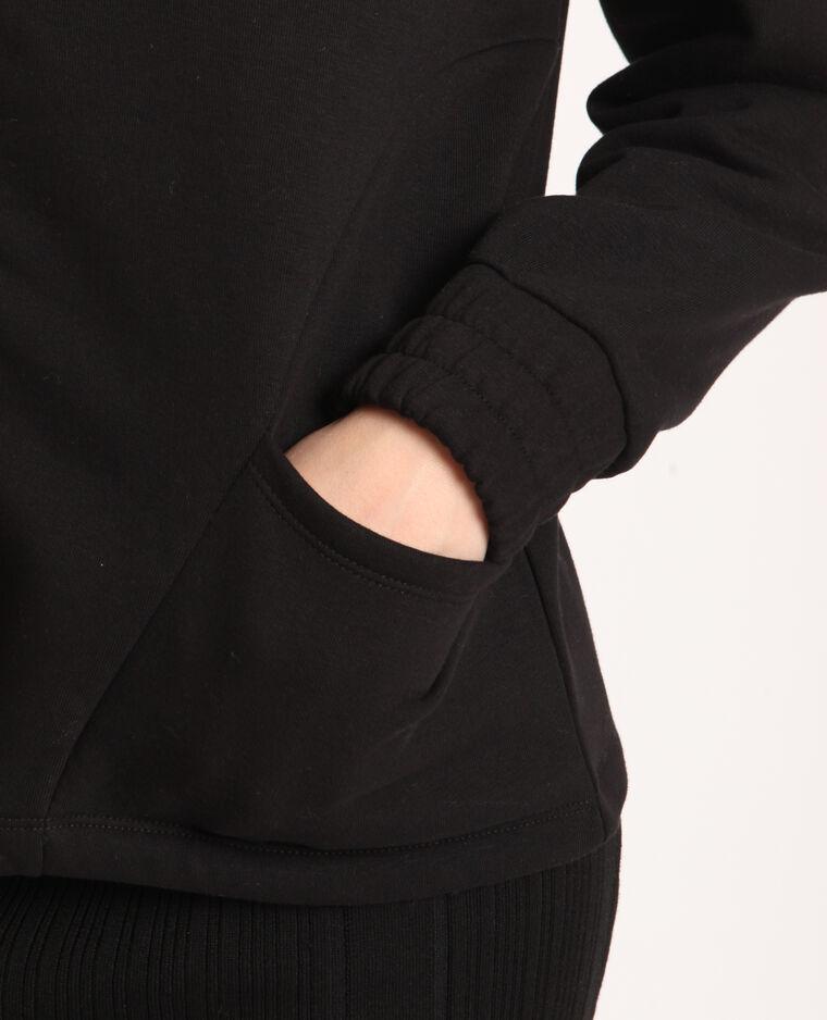 Felpa con zip nero