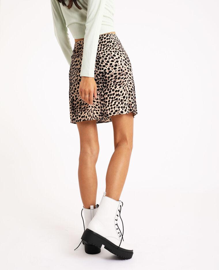Gonna leopardata nero