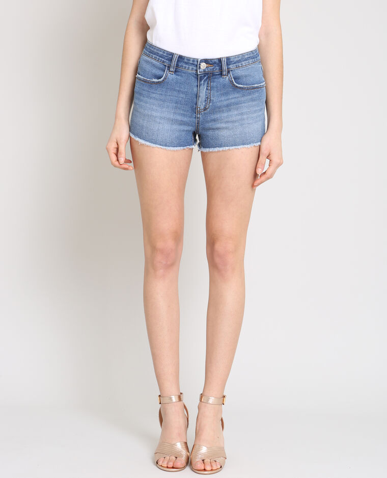 Short corto blu denim