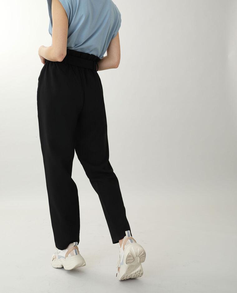 Pantalone a vita alta nero - Pimkie