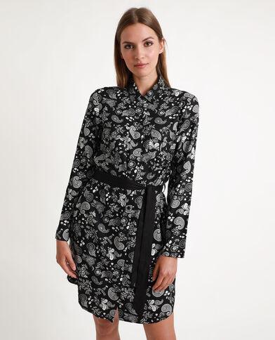 Abito camicia morbido nero