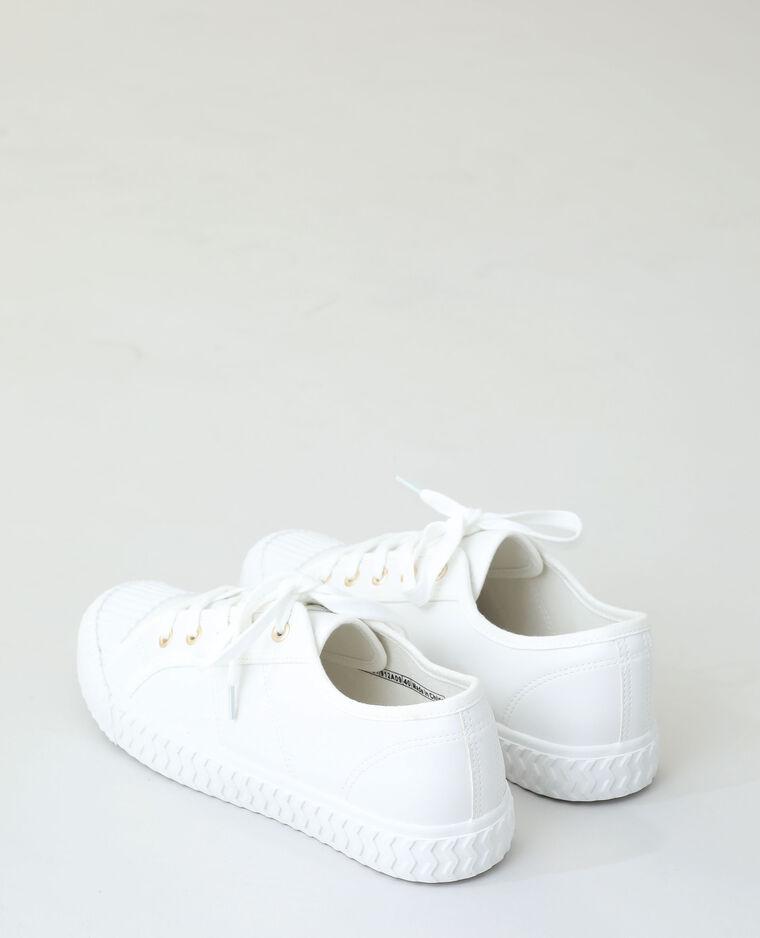 Scarpe da ginnastica con lacci bianco sporco