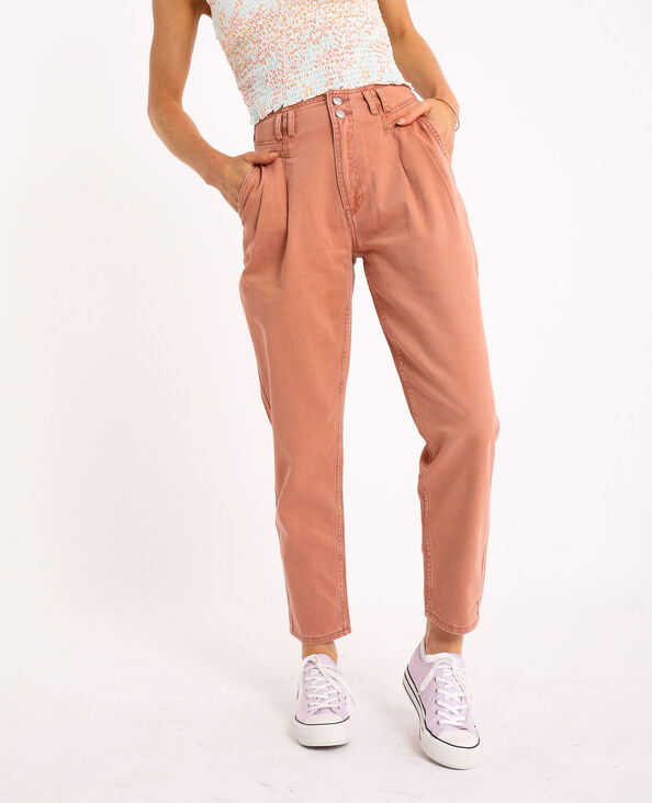 Jeans mom rosso