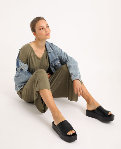 Abito pantalone ampio kaki