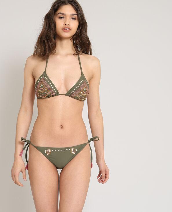 Pezzo sotto di bikini tanga kaki