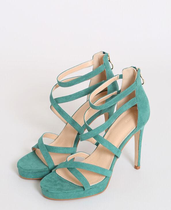 Sandali con tacchi a spillo verde