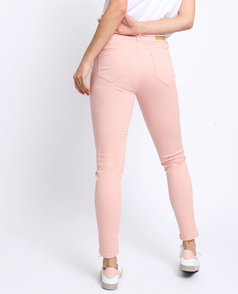 Pantalone push up mid waist rosa
