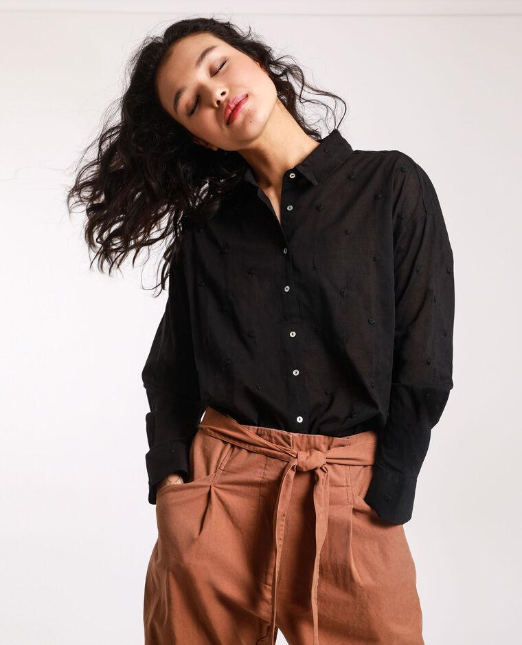 Camicia con motivi nero