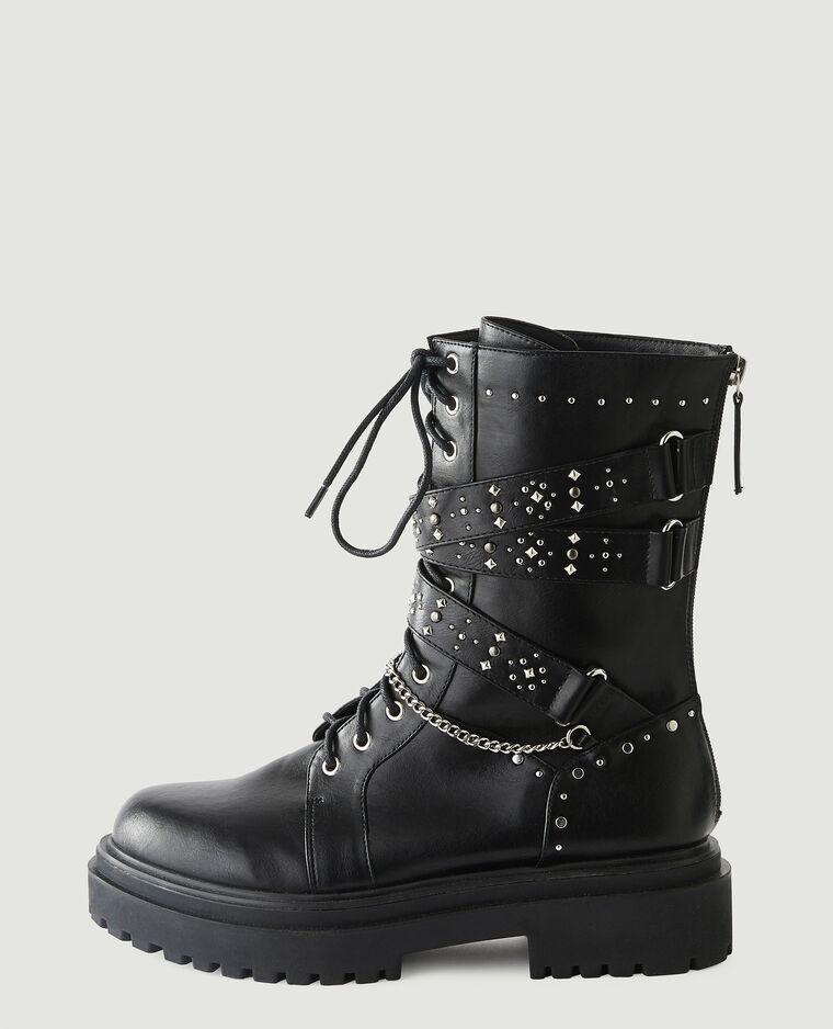 Stivali con borchie in similpelle nero - Pimkie