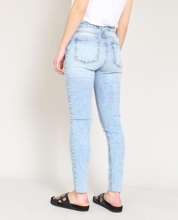 Jeans skinny délavé blu delavato