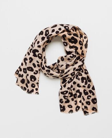 Foulard leopardato nero